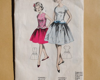 Vintage British English Sewing Pattern 1960's Maudella girl's summer party dress Age 11 and 12  #5166