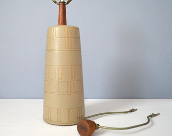 Vintage Early Incised Martz Table Lamp - Marshall Studios