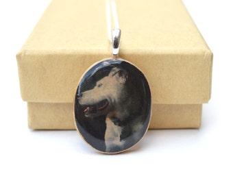 Custom pet memorial necklace, custom pet portrait wooden photo necklace, personalized pet necklace