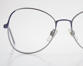 Vintage Italian Blue Wire Eyeglasses Frames