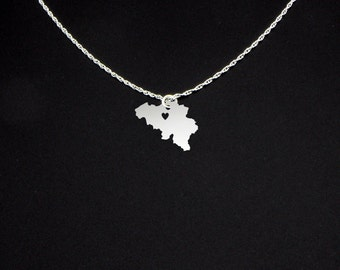 Belgium Necklace - Belgium Jewelry - Belgium Gift