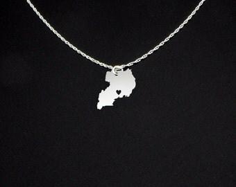 Uganda Necklace - Country Necklace - Uganda Jewelry - Uganda Gift