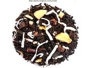 Organic FUNKY MONKEY, Banana Coconut Chocolate,  Loose Leaf Black Tea, Caffeinated,1oz  Earth Friendly Packaging