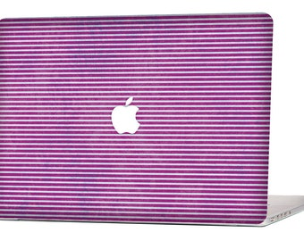 """Apple Macbook Air 11"""" 13"""" Decal Skin Cover and Apple Macbook Pro Retina 12"""" 13"""" 15"""" Decal Skin Cover - Purple Grunge Stripes"""