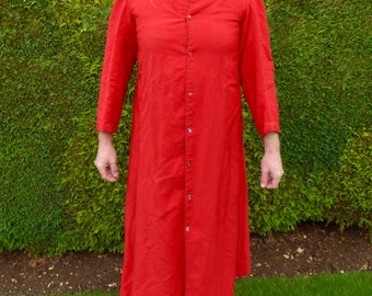 1950s Red Clergy Gown Vicar's Gown Cardinal's Robe Religious Gown Religious Robe Vintage Fancy Dress Regigiuos Costume