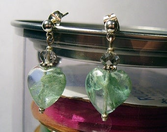 Forest Hearts Fluorite earrings