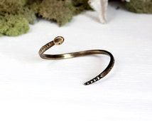 Snake Bracelet in Bronze - Ouroboros Bracelet, Gold Snake Cuff, Serpent Jewelry, Snake Jewelry, Snake Bangle