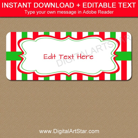 Simplicity image in printable christmas address labels