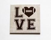 Love Football, Football Magnet, Kitchen Magnet, Fridge magnet, Magnet, Square Magnet, Gift for him, Football Lover, Fathers Day (5421)