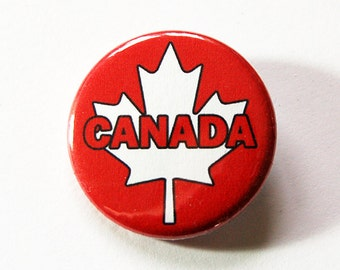 Canada Maple Leaf, Canada Pin, Pinback buttons, Canadian Pride, Maple Leaf, Red White, Loves Canada, Canada Day, canadian flag badge (5431)