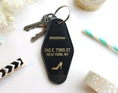 Bradshaw Black Key Tag - Sex and the City Keychain