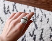 CUSTOM ORDER For Lydia - Jasper Ring, Size 7