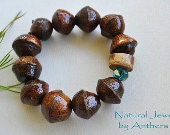 Unique bracelet for women - organic jewelry- zen - charm bracelet - natural jewelry