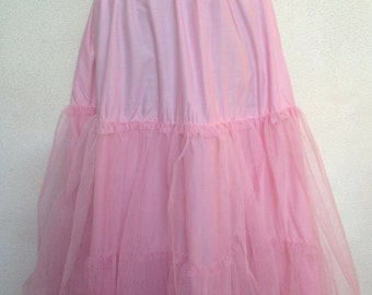 Vintage pink petticoat two layer by Laura Ashley one size