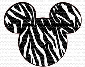 Minnie Mouse, Zebra Print, SVG, DXF, EPS, Digital Design, Instant Download, Disney Shirt, Mickey Mouse