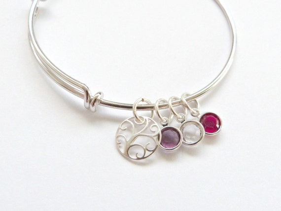 Modern Family Tree Bangle
