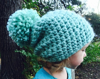 3 sizes, Super Bulky Slouch Hat, Toddler Kids Adult Size, slouchy beanie, crochet P D F, InStaNT DoWNLOAD Permission to Sell