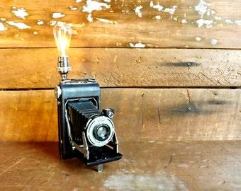 Camera lamp Kodak night light Vintage accent light Folding camera