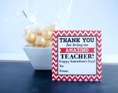 Teacher Valentines Cards school classroom printable PDF--INSTANT DOWNLOD