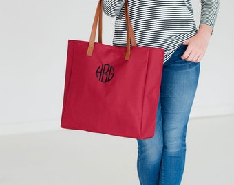 Monogram Tote Bag, Personalized Tote Bag, Monogrammed Gifts, Bridesmaid Gifts, Group Discounts, 8 Color Options, Tailgate Tote Bag