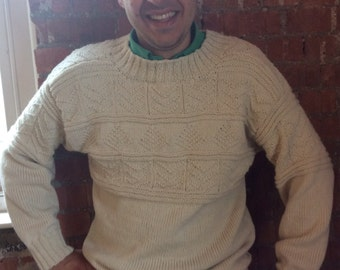 Guernsey - Handmade Traditional  Fishermans Jumper -Gansey - Ivan's Guernsey -Made to Order - Choice of Colours