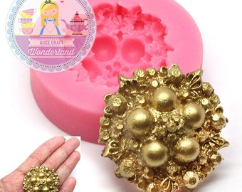 Brooch Silicone Mold 750m Fondant Gum Paste Polymer Clay fimo Cookie topping Chocolate Melts Flexible Mold BEST QUALITY