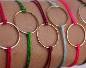 Dainty gold bracelet minimal - Best seller - Layering Bracelet - 13 Colors - Adjustable