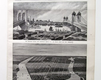 Scientific American, Full Issue, 1901, Bird's-Eye View of New York, Brooklyn Bridge, and More