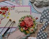 Retro Wedding Inspiration Kit   Embellishments   8 x 6 Art Journal Mini Album   Scrapbooking Layout   Project Life