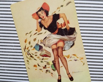 Retro Signature Vintage Pin Up Playing Cards