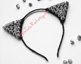 Spiked Cat Ears // Punk Cat Ears // Cat Ears Headband // by Born Tutu Rock
