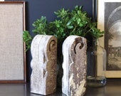 Vintage wood corbels, architectural salvage, shabby chic decor