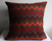 Chevron Pillow Case, Wool Pillow Case, Navajo Pillow Cover, Painting Pillow Case, Two Sİded Pillow Case