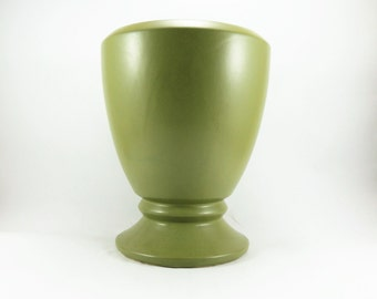 Vintage Floraline Planter, Large Green McCoy Floraline Vase No. 450, Succulent Planter, Green Ceramic Urn, Wedding Flower Vase, Centerpiece