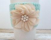 Coffee Sleeve - Stocking Stuffer - BeigeCoffee Sleeve - Beverage Sleeve - Travel Mug Cozy - Beverage Cozy - Crochet Mug Cozy - Mug Cozy