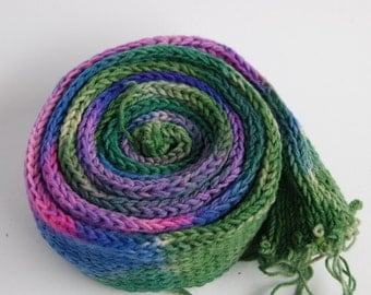 Best Wish Yarn ... Sockyarn  with message, handpainted, for knitting socks or anything you like