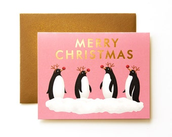 Dressed Up Penguins Card