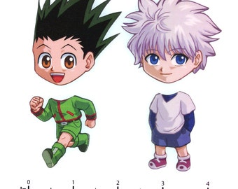 Mix and Match Magnets: Gon, Killua (Hunter x Hunter Set)