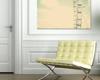 London Photography Print - London Eye, Pastel photography