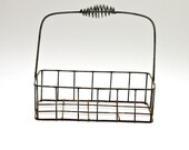 Antique French Metal Basket Carrier