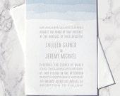 LETTERPRESS SAMPLE | Letterpress Wedding Invitation | Watercolor Invitation | Beach Wedding Invitation | Modern Invitation | Wedding Invite