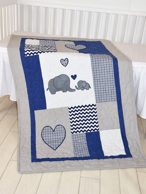 Gray Chevron Baby Bedding Set
