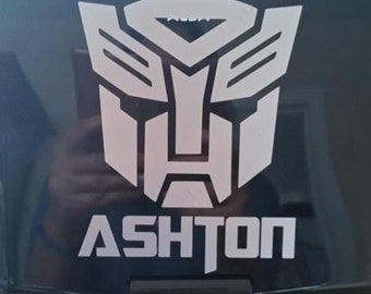 Personalized Transformer Autobot Wall Sticker Decal