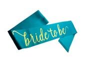 Bride to Be Sash, Satin Bachelorette Sash, Gold printed sash, Bachelorette Party, Bridal Shower, Engagement Party, Bridal Sash, Bachelorette