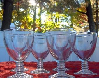 Ribbed Toasting Cordials Set of Six Glasses - Vintage Home Bar Decor