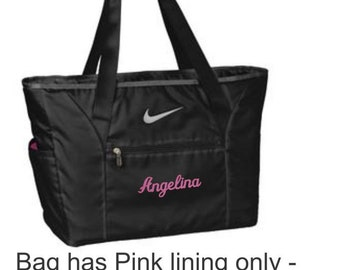 Diaper Bag, Baby Diaper Bag, Baby Tote, Personalized Diaper Bag, Baby Boy, Baby Girl, Nike Tote, Personalized Baby, Baby Shower Gift
