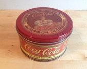 Vintage Red Drink Coca Cola Tin - Refreshing! Delicious!