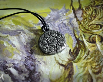 Mage's Guild Elder Scrolls inspired weathered necklace pendant by Mortiis.M