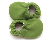 green baby shoes, baby moccasins, linen booties soft sole shoes early walker non slip baby shoes linen clothing vegan baby shoes olive green