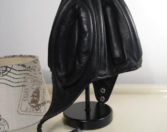 Vintage Brown Leather Motorcycle Motorbike Helmet Colmar Registrato Italy 50/60s